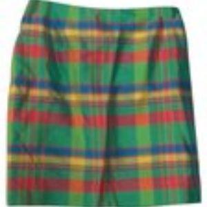 Ralph Lauren Green Plaid Barbados Skirt